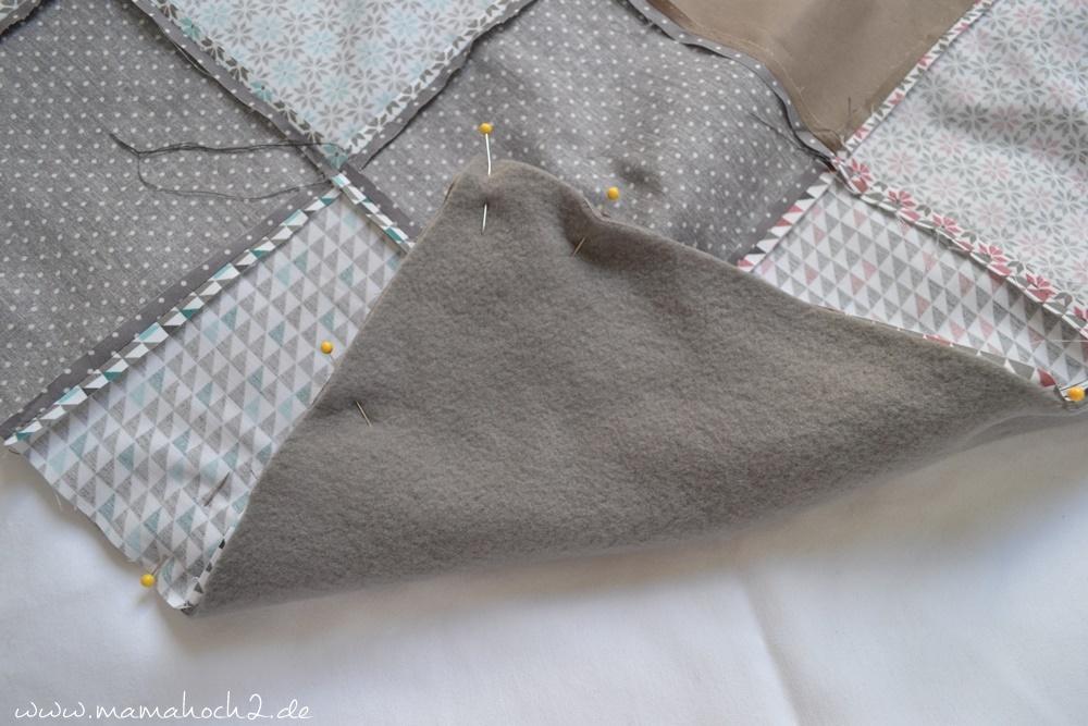 Patchworkdecke für Babys nähen . einfaches und schnelles Nähen . Nähen für babys . Freebook . Nähen mit baumwolle (12)