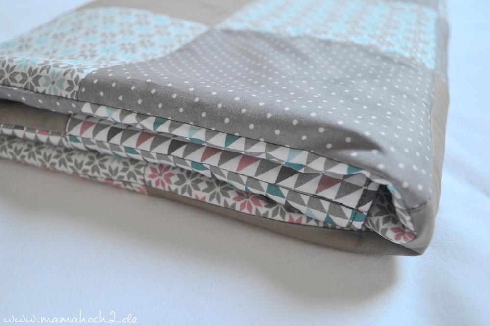 Patchworkdecke für Babys nähen . einfaches und schnelles Nähen . Nähen für babys . Freebook . Nähen mit baumwolle (19)