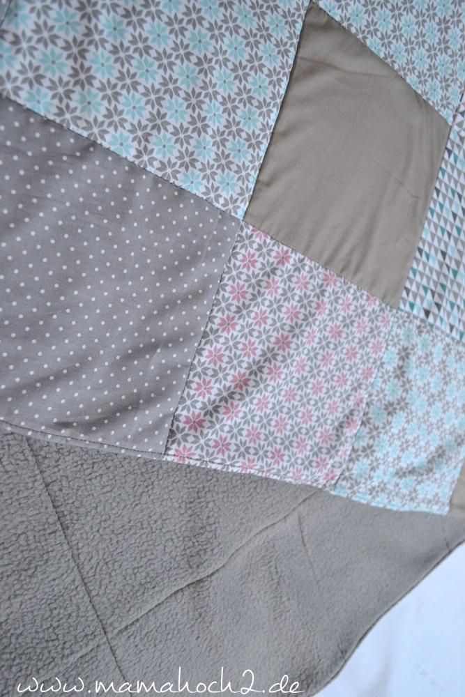Patchworkdecke für Babys nähen . einfaches und schnelles Nähen . Nähen für babys . Freebook . Nähen mit baumwolle (21)