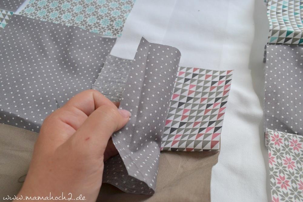 Patchworkdecke für Babys nähen . einfaches und schnelles Nähen . Nähen für babys . Freebook . Nähen mit baumwolle (3)