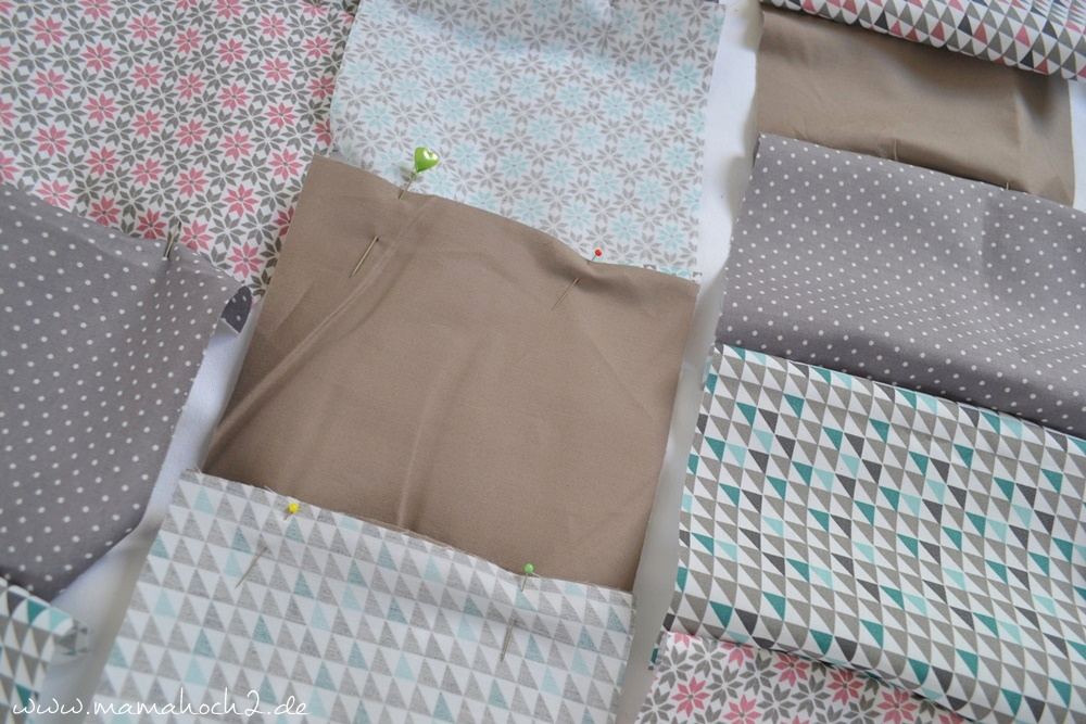 Patchworkdecke für Babys nähen . einfaches und schnelles Nähen . Nähen für babys . Freebook . Nähen mit baumwolle (5)