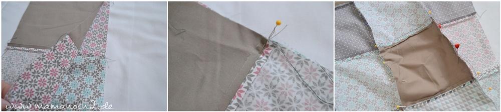 Patchworkdecke für Babys nähen . einfaches und schnelles Nähen . Nähen für babys . Freebook . Nähen mit baumwolle (8)