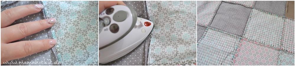 Patchworkdecke für Babys nähen . einfaches und schnelles Nähen . Nähen für babys . Freebook . Nähen mit baumwolle (9)