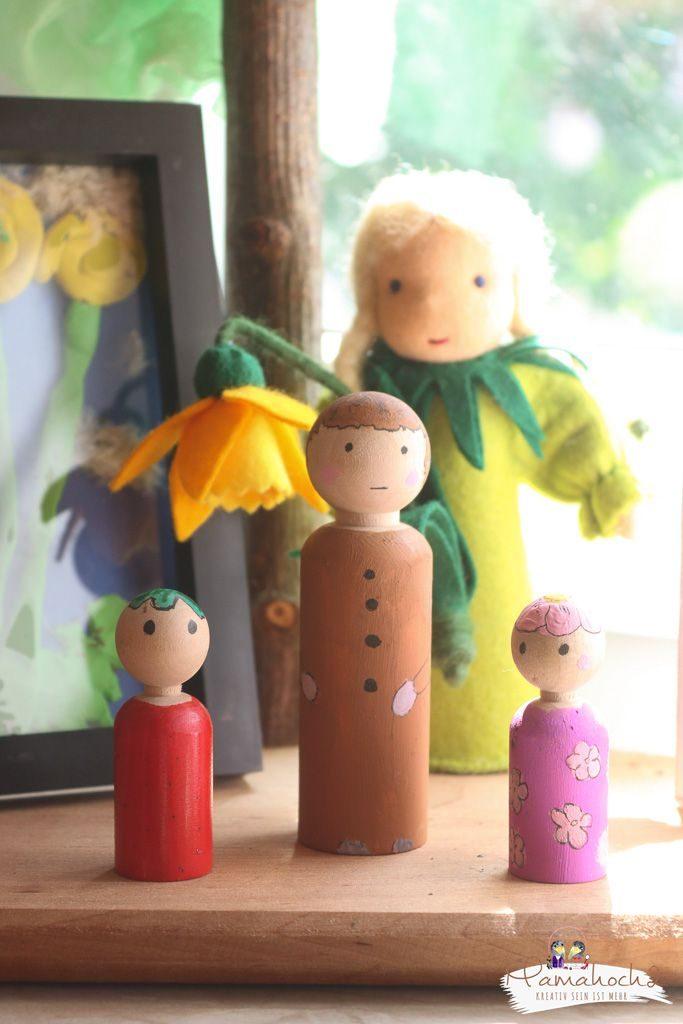 peg dolls selber machen waldorf spielzeug selber machen (3)