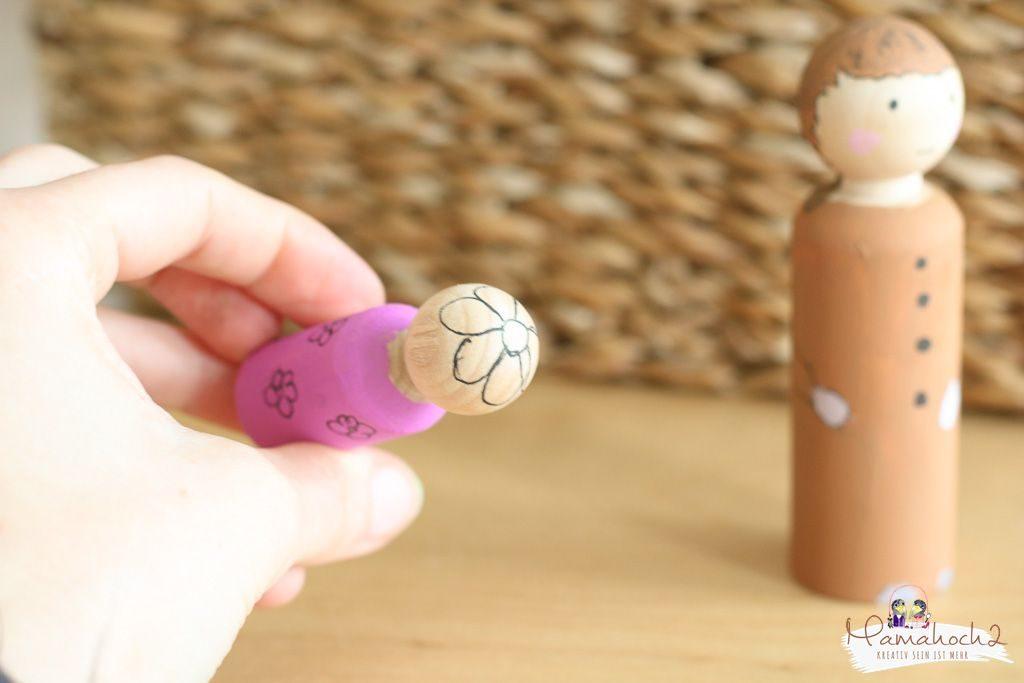 peg dolls selber machen waldorf spielzeug selber machen (7)