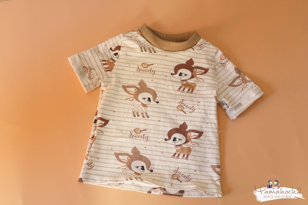 T-Shirt nähen – Wie du dir ein T-Shirt aus einem vorhandenen Schnittmuster nähst (3)