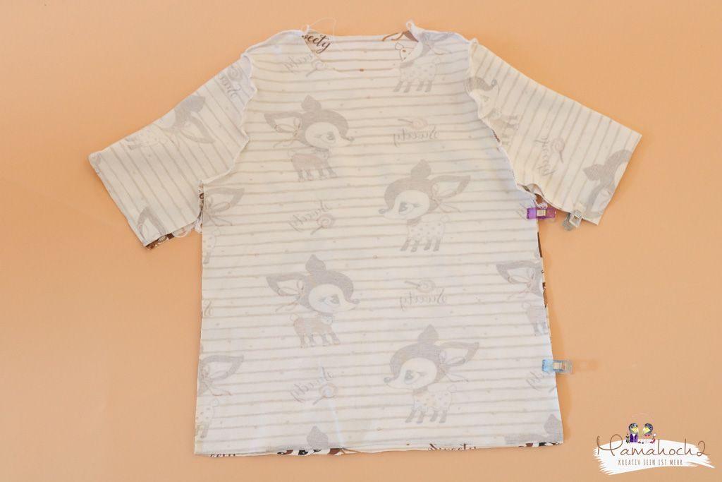 T-Shirt nähen – Wie du dir ein T-Shirt aus einem vorhandenen Schnittmuster nähst (5)