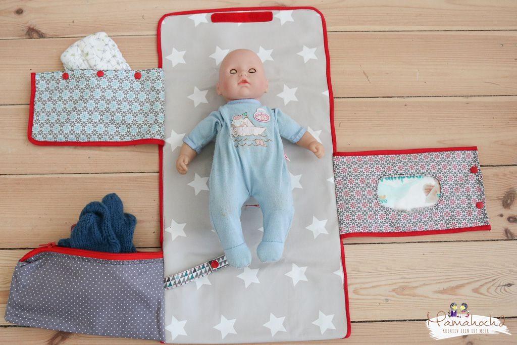 Wickeltasche nähen Wickelunterlage Nähanleitung Babys (2)
