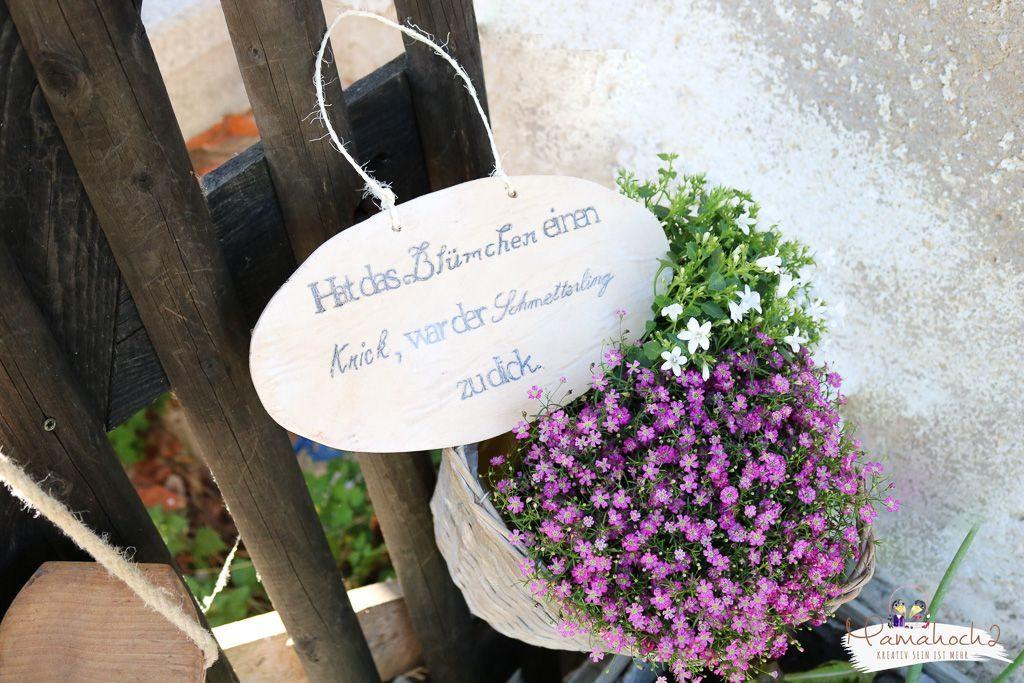 Diy Anleitung Gartenschild Aus Holz Selber Machen Mamahoch2