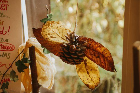 Herbstbasteln mit Zapfen