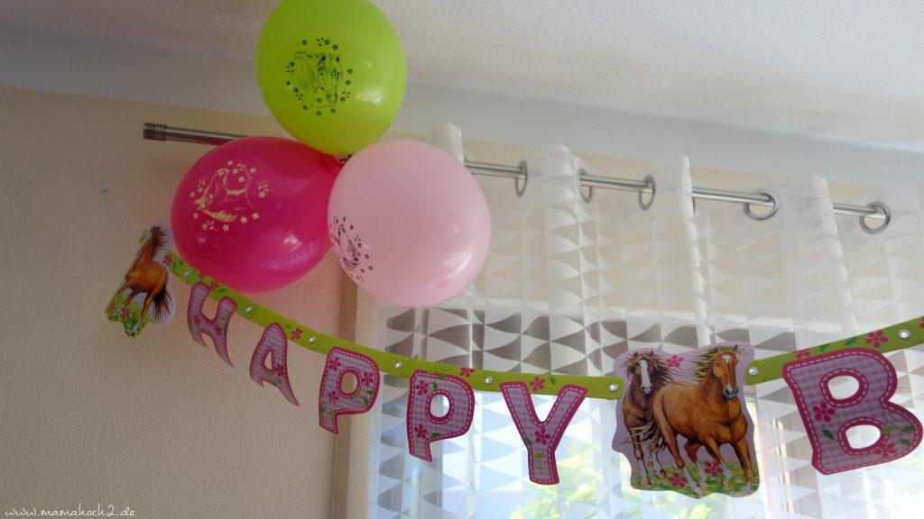 Pferdemotiv Luftballons Pferdeparty-Kindergeburtstag