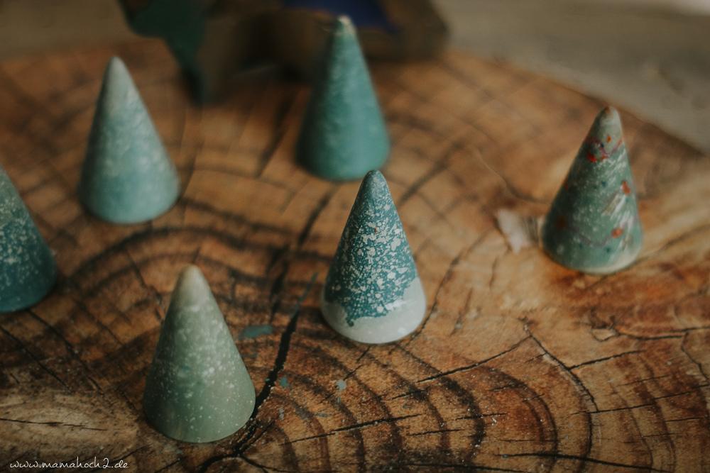 Diy Mini Weihnachtsbaume Basteln Mit Kindern Fur Weihnachten
