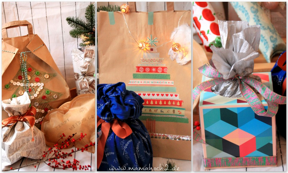 große geschenke verpacken ohne geschenkpapier